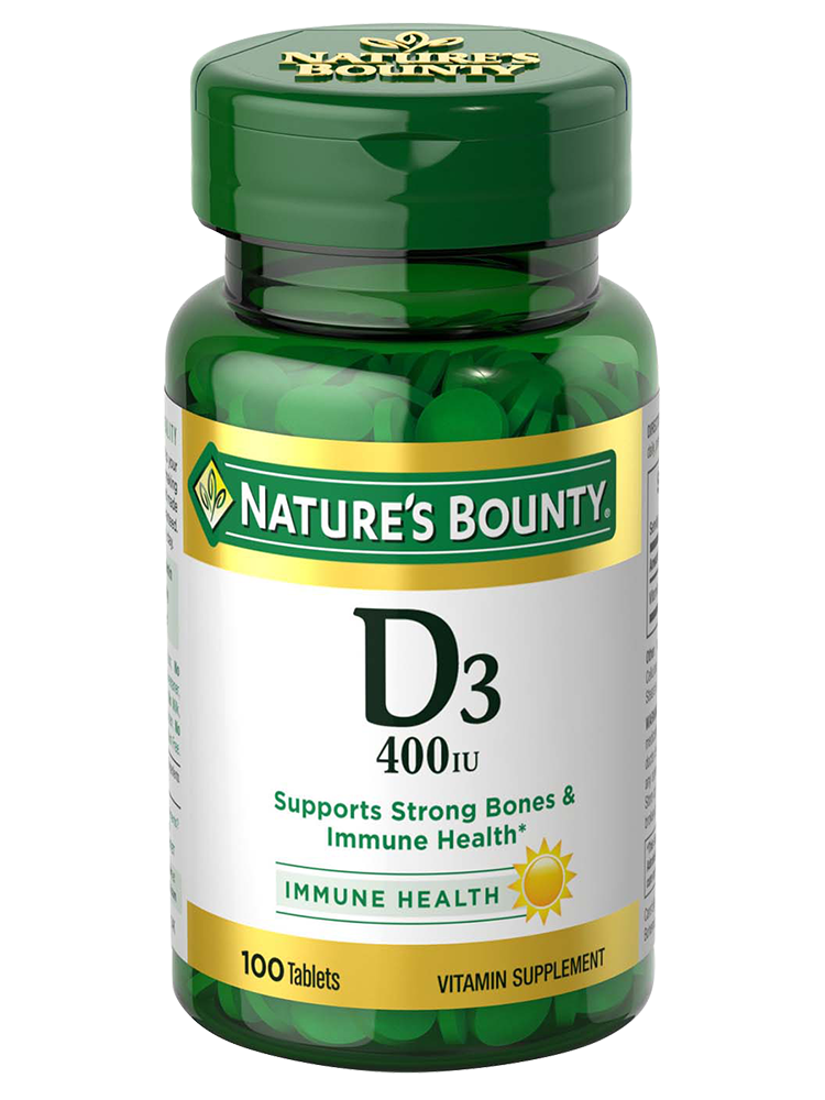 Vitamin D 400 Iu 100 Tablets Nature S Bounty Be Your Healthy Best
