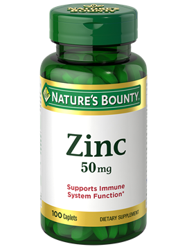 Zinc 50 Mg 100 Caplets Nature S Bounty Be Your Healthy Best