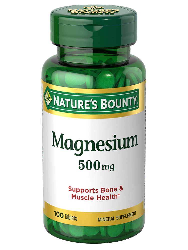 Magnesium - 500 mg (100 Coated Tablets) | Nature's Bounty