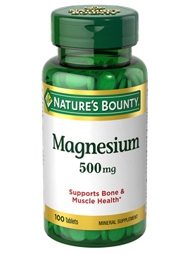 Magnesium 500 Mg 100 Coated Tablets Nature S Bounty