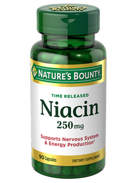 Niacin 250 Mg 90 Time Release Capsules Nature S