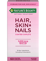 Hair, Skin & Nails - 3000 mcg of Biotin (60)