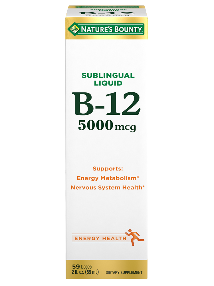 B-12 - 5,000 mcg (2 oz ) | Nature's Bounty - Be Your Healthy