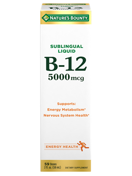 B 12 5 000 Mcg 2 Oz Nature S Bounty Be Your