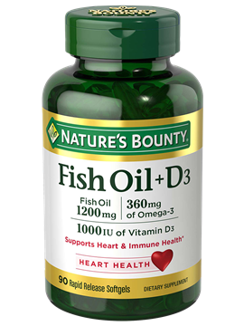 Fish Oil 1200 mg + Vitamin D3