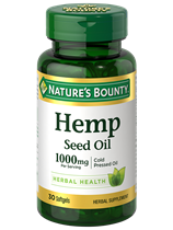 Nature's Bounty Hemp Seed Oil 1000mg