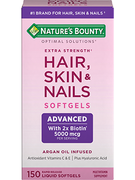 Extra Strength Hair, Skin & Nails - 5,000 mcg of Biotin (150 Rapid ...