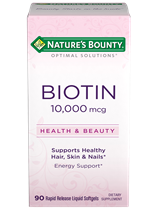 Biotin 10,000 mcg Softgels - 10,000 mcg (90 Rapid Release Softgels)
