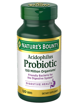 Acidophilus Probiotic 120 Tablets Nature S Bounty Be