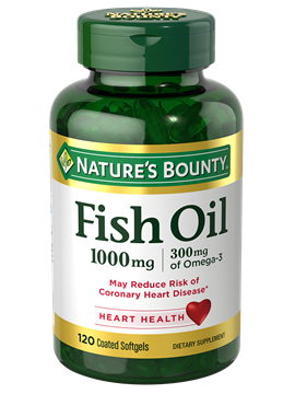 Fish oil 1 000 mg 120 coated softgels nature 39 s for Nature s bounty fish oil