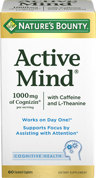 Active Mind 1000mg Of Cognizin 60 Coated Caplets