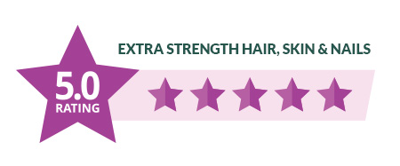 Extra Strength Hair Skin and Nails Gummies 5 Star Rating