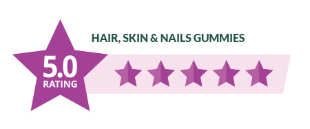 Hair Skin and Nail Gummies 5 Star Rating