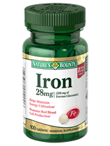 Iron-Ferrous Gluconate - 28mg (100 Tablets)